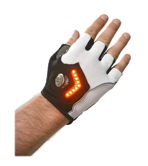 des gants de v los avec indicateur lumineux. Black Bedroom Furniture Sets. Home Design Ideas