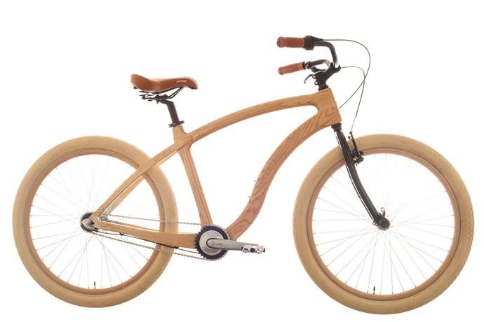 mat ria bikes pr sente son nouveau beach cruiser en bois. Black Bedroom Furniture Sets. Home Design Ideas