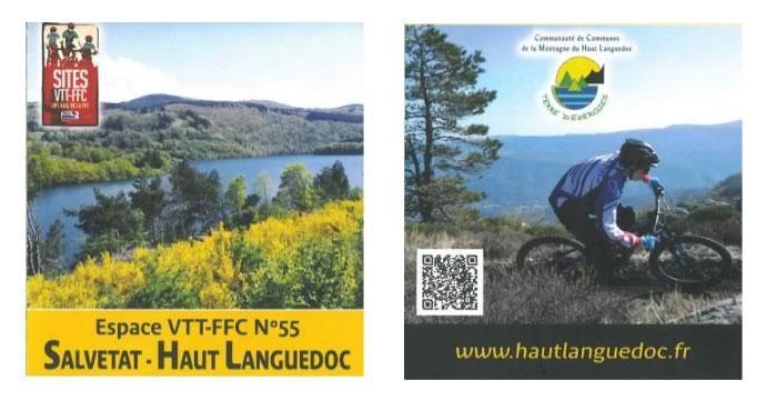 610 kms de sentiers balisés à l'espace VTT Salvetat - Haut Languedoc